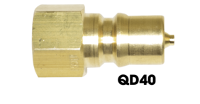 Brass Quick Connect (Male) QD40